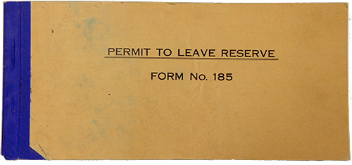 permit to leave the reserve